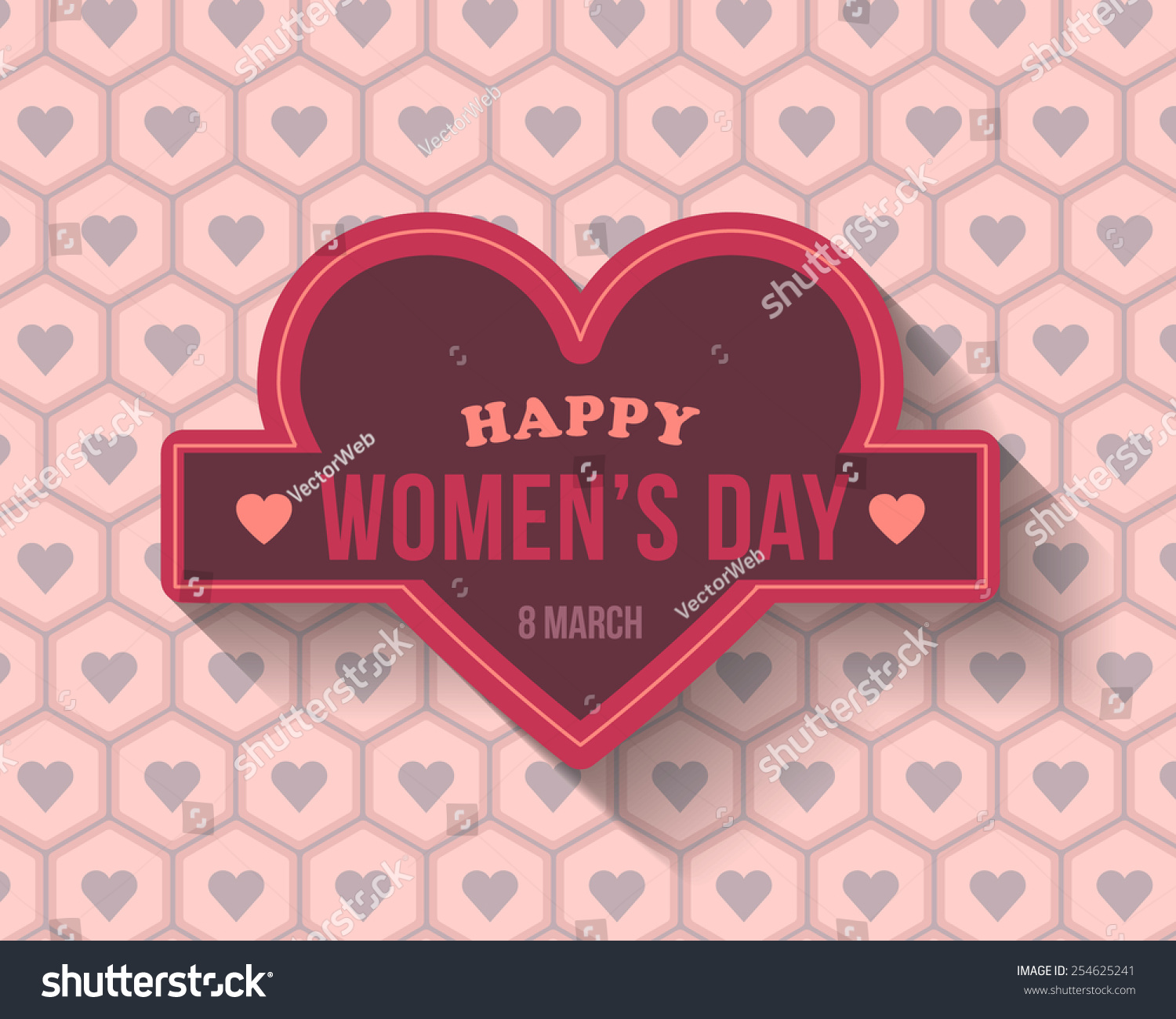 Hearts symbols happy womens day greeting stock vector 254625241 hearts symbols happy womens day greeting card announcement background biocorpaavc