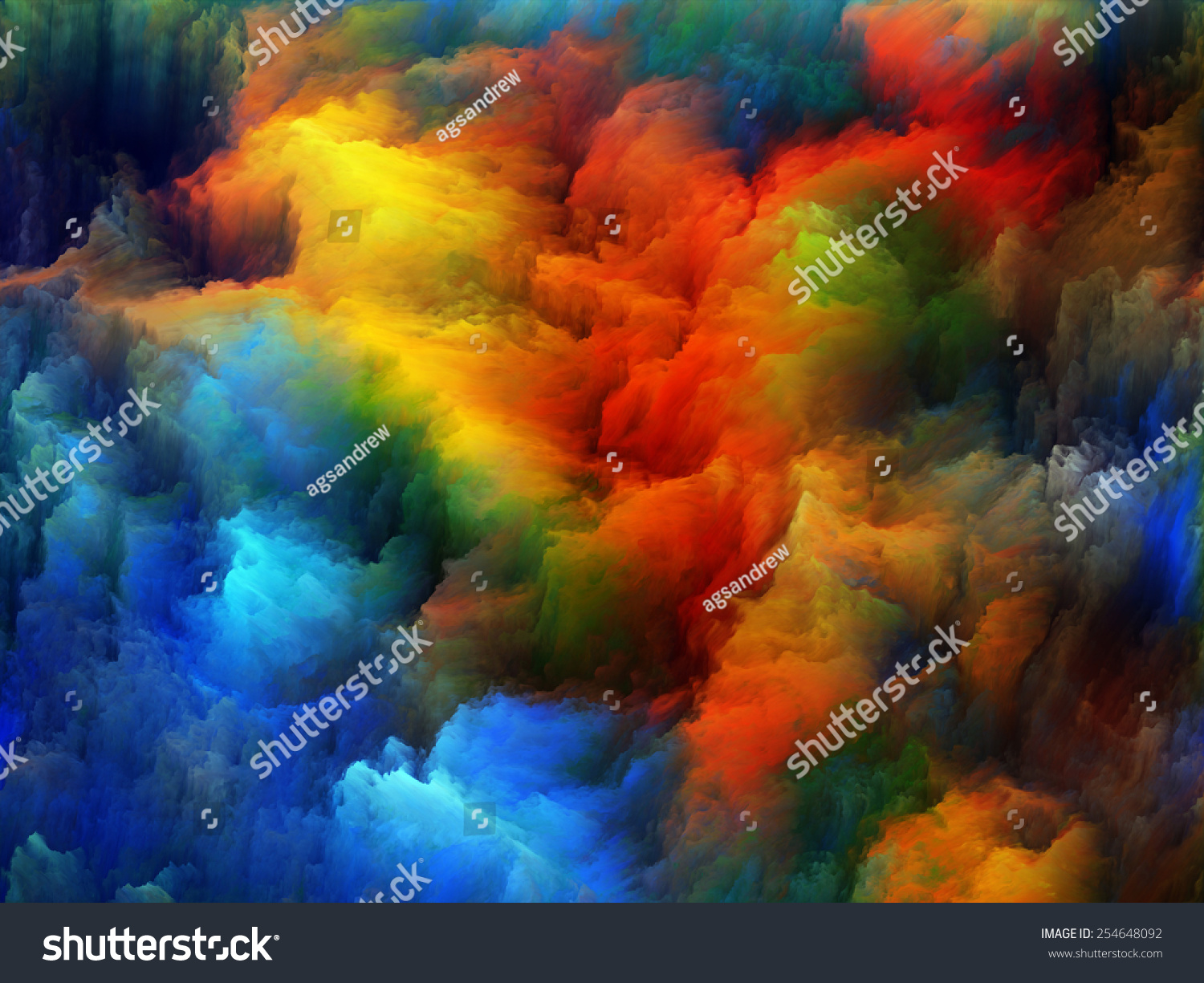 Color Design Art : Color explosion series abstract design made stock illustration