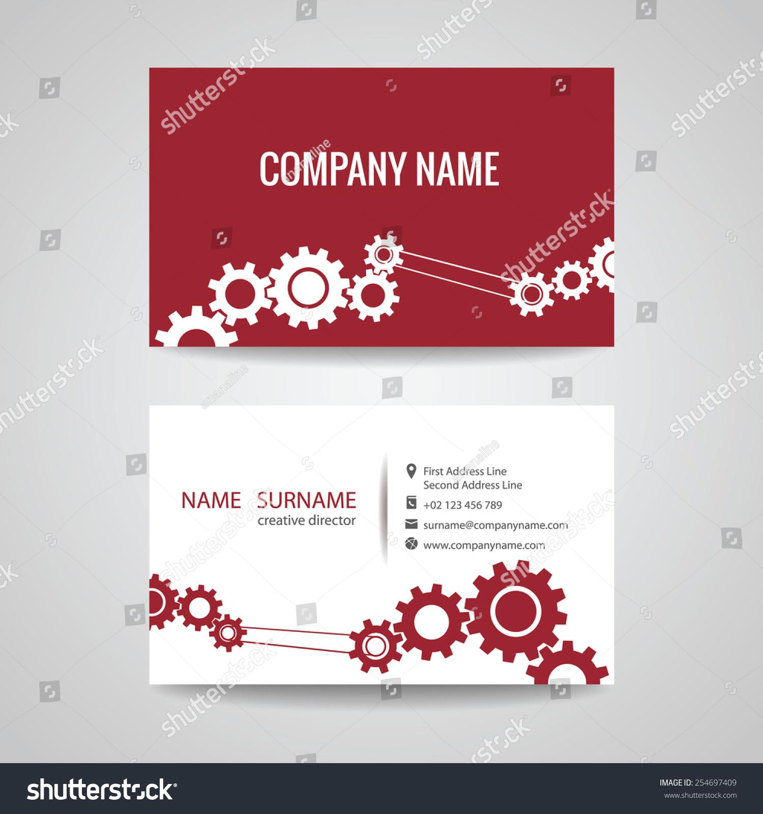Business Card Engineer Mechanical Stock Photo (Photo, Vector ...