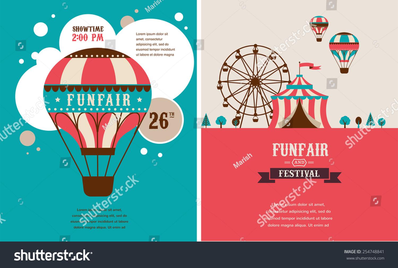 vintage poster carnival fun fair circus stock vector royalty free