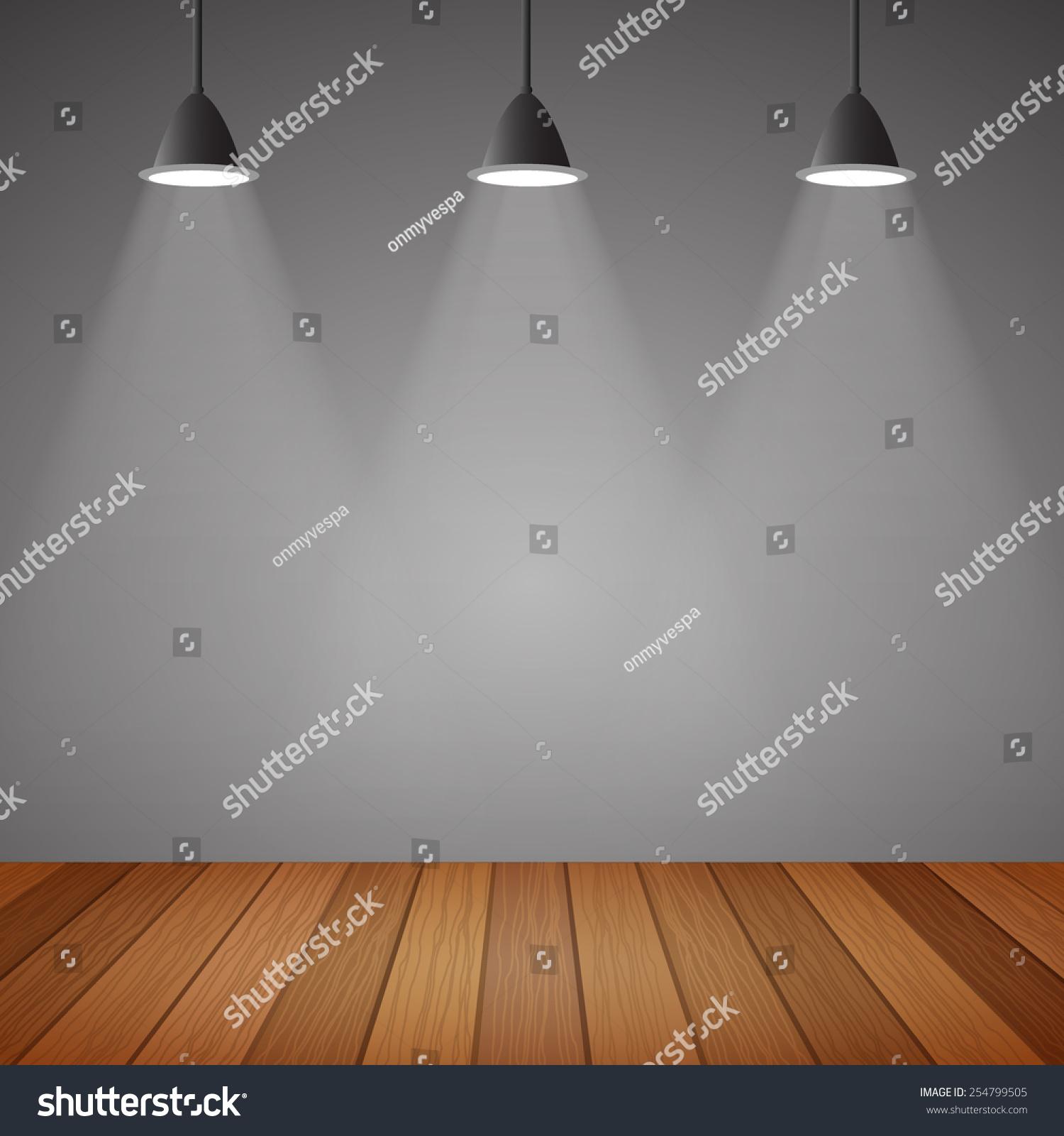 empty room loft style and wooden floor vector eps10