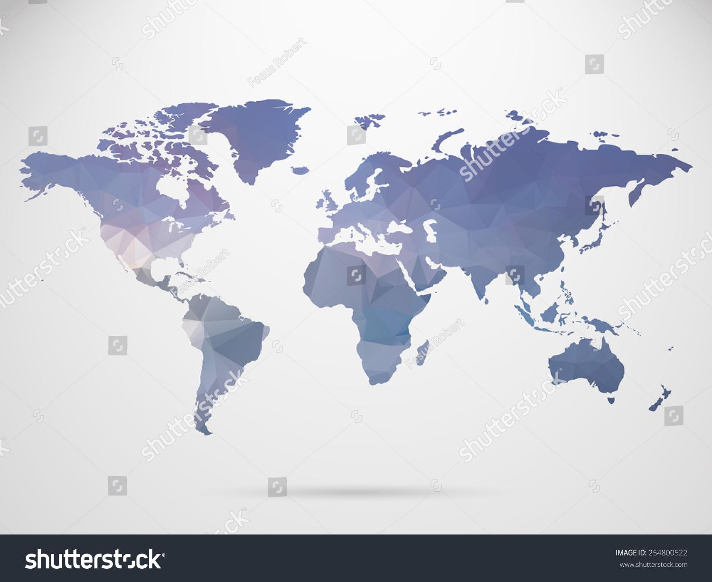 World map background polygonal style background vectores en stock world map background polygonal style background vectores en stock 254800522 shutterstock gumiabroncs Choice Image