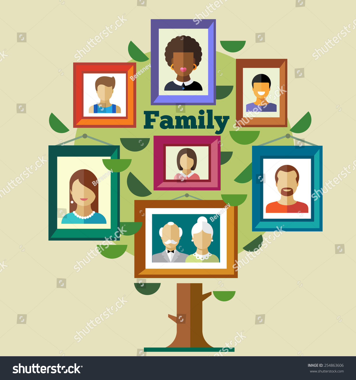 Family tree relationships traditions portraits peoples stock family tree relationships and traditions portraits of peoples in frames mother father jeuxipadfo Gallery