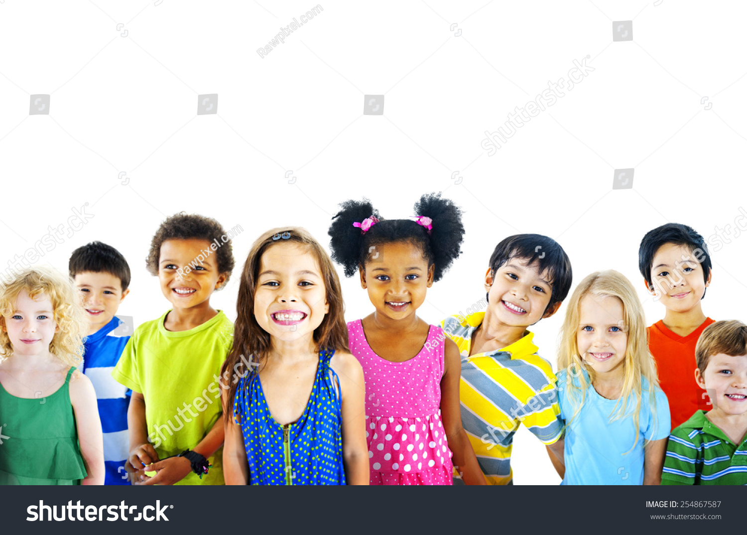 Ethnicity Diversity Group Kids Friendship Cheerful Stock ...