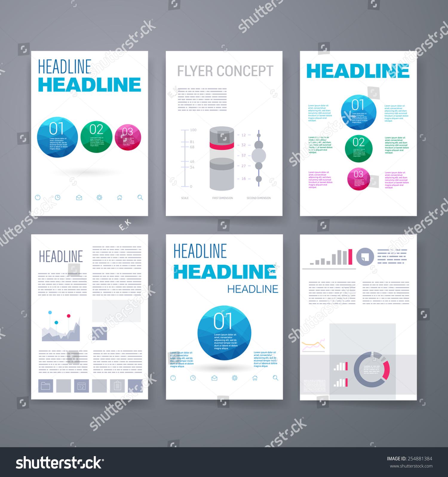 templates design set of web mail brochures mobile technology and
