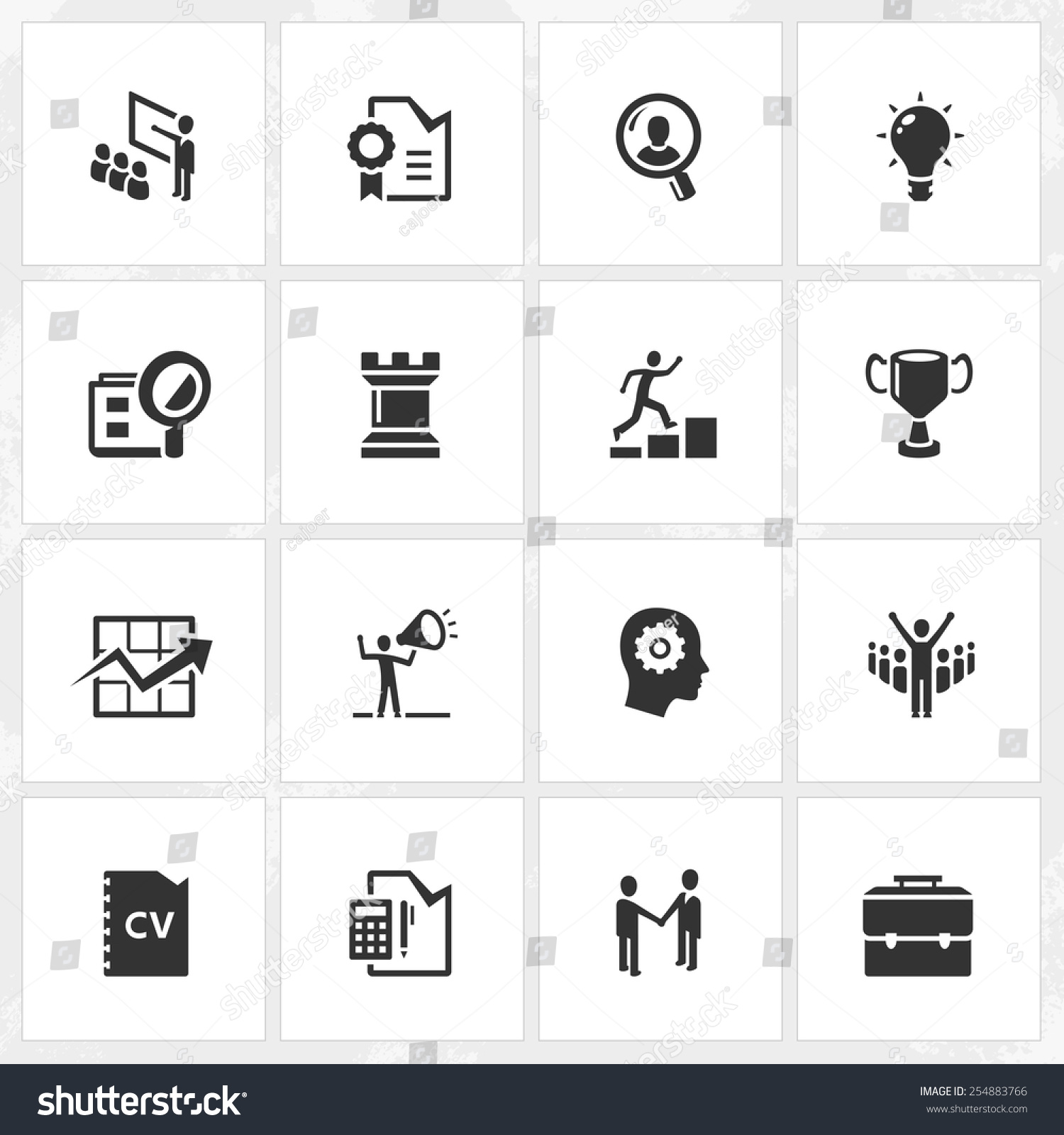 career business vector icons file format stock vector