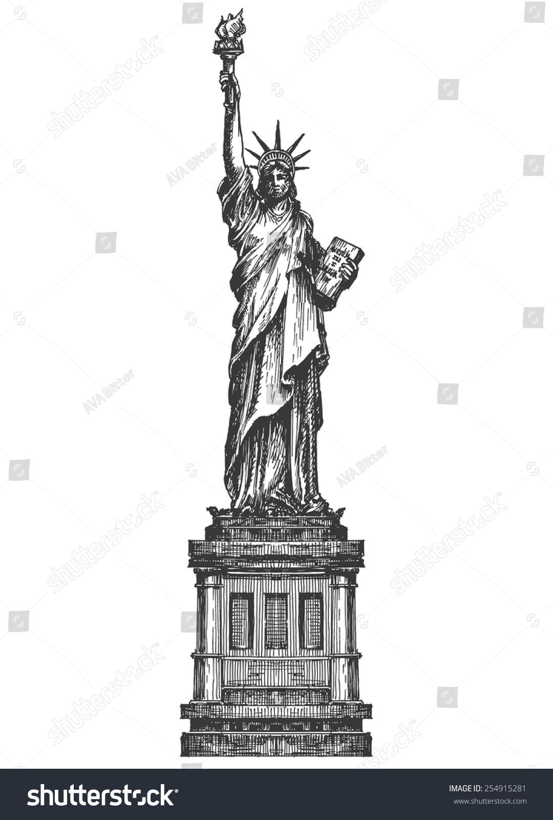 statue liberty logo design template america stock vector 254915281 shutterstock. Black Bedroom Furniture Sets. Home Design Ideas