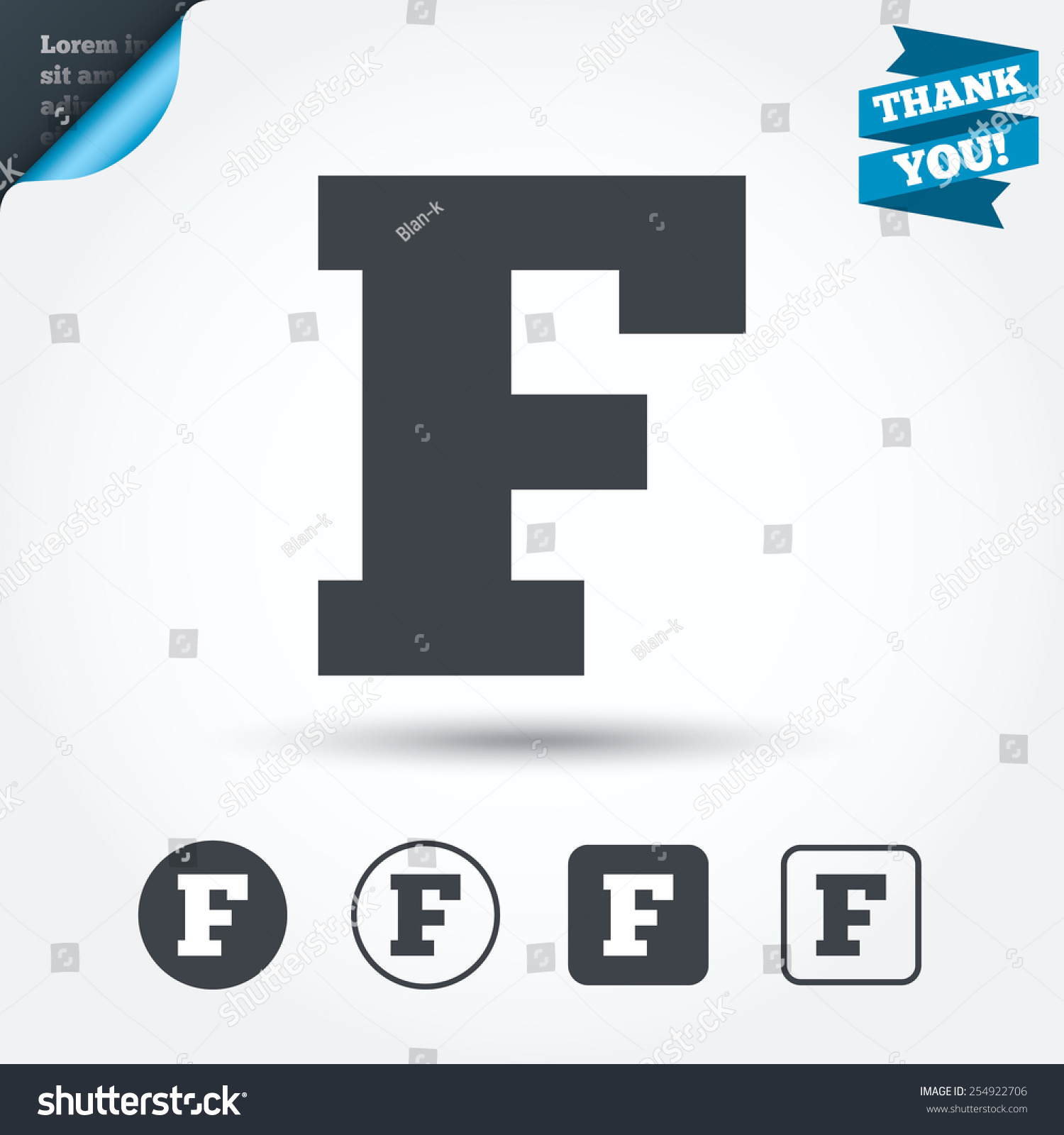 Uppercase Letter F Icon Capital Character Stock Vector Royalty Free