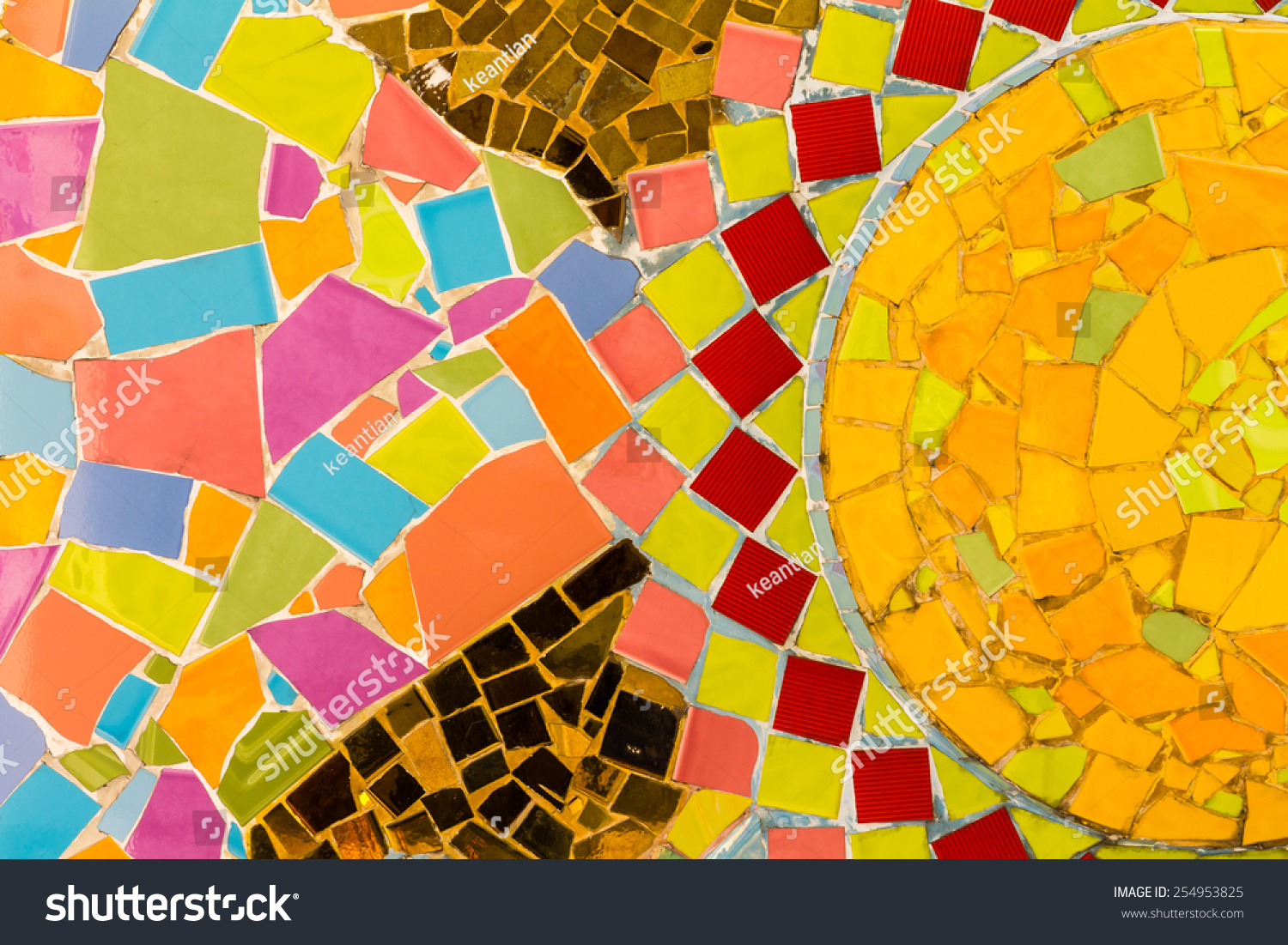 Royalty-free Background wall tiles cracked plate… #254953825 Stock ...