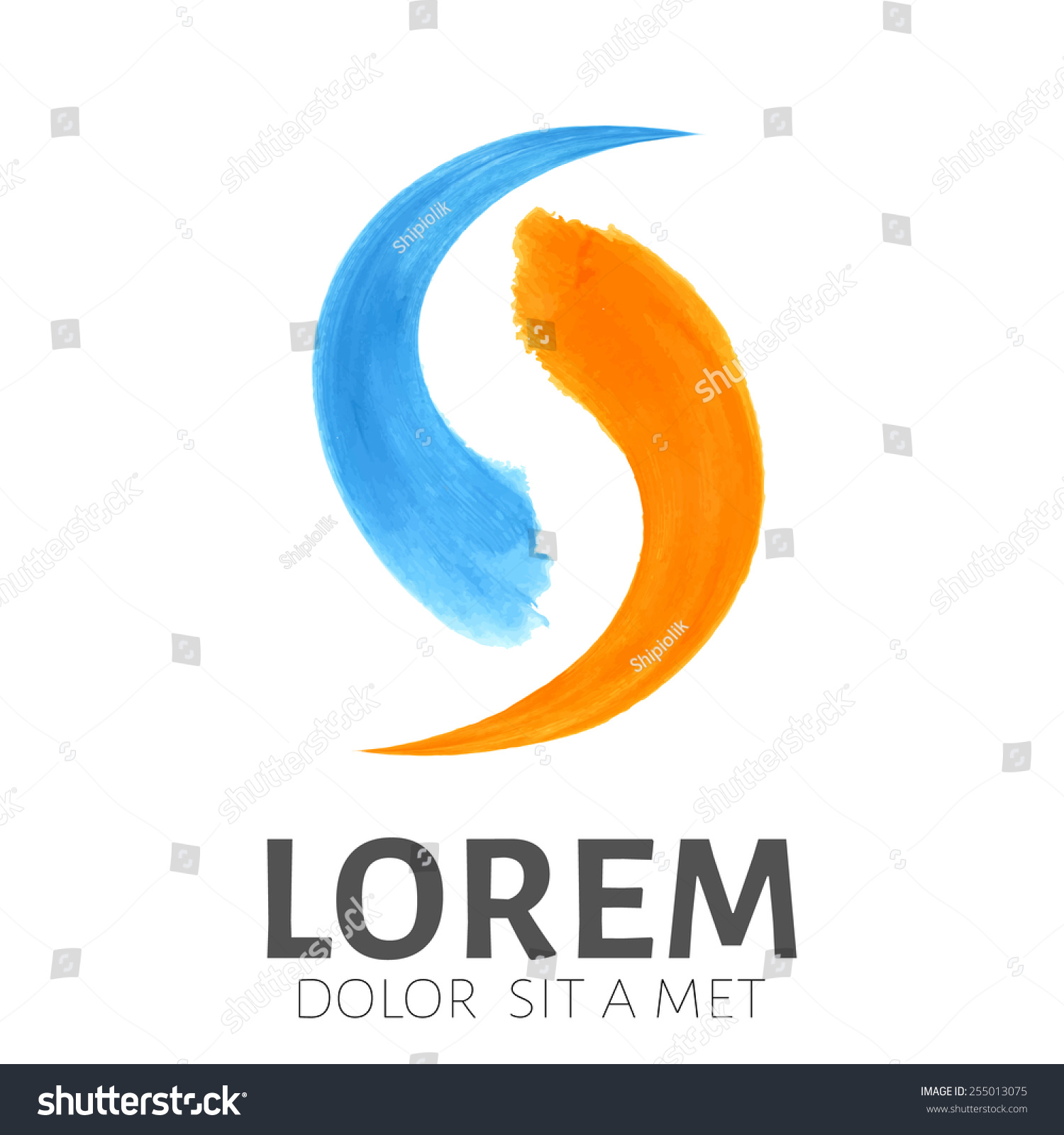 Business logo template plumbing emblem symbol stock vector plumbing emblem symbol watercolor brush strokes fire and water connection biocorpaavc Choice Image