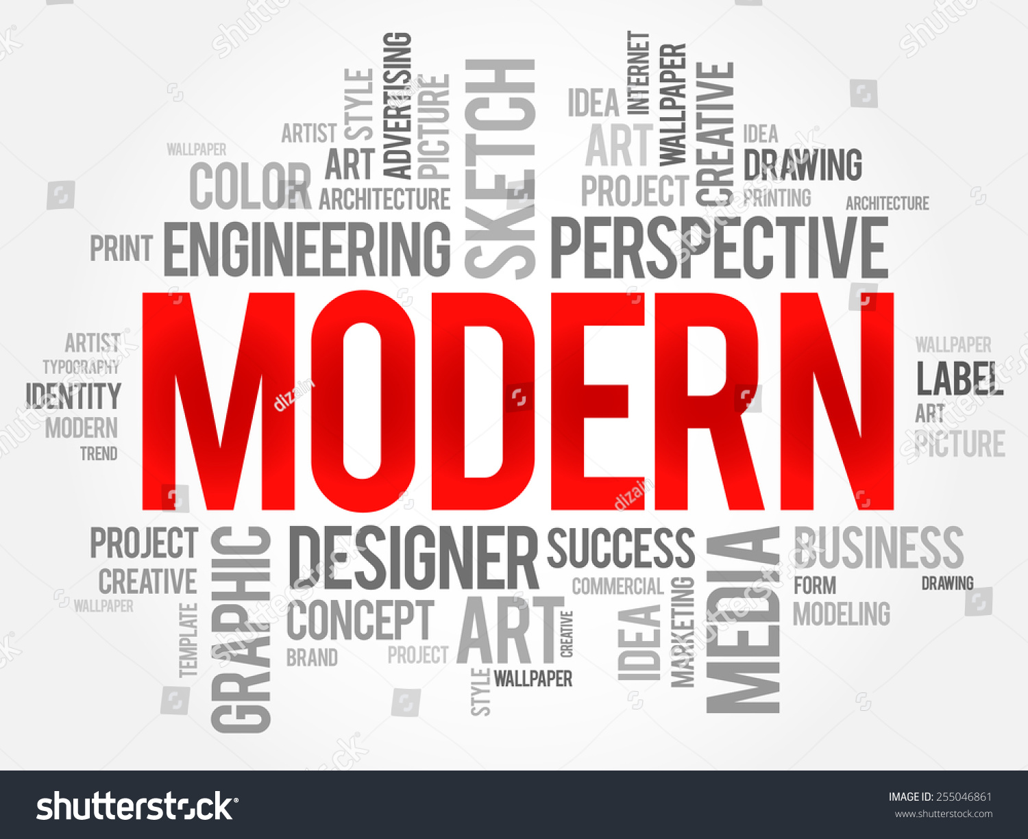 modern word cloud business concept stock vector royalty free