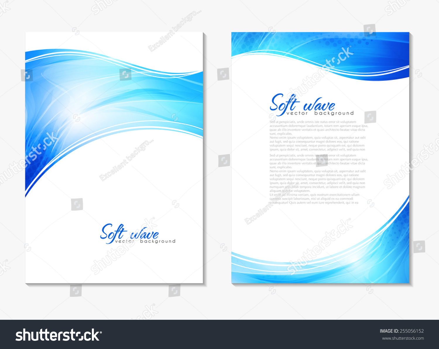 abstract modern blue color backgrounds lighting stock vector abstract modern blue color backgrounds lighting effect back and front flyer cover design