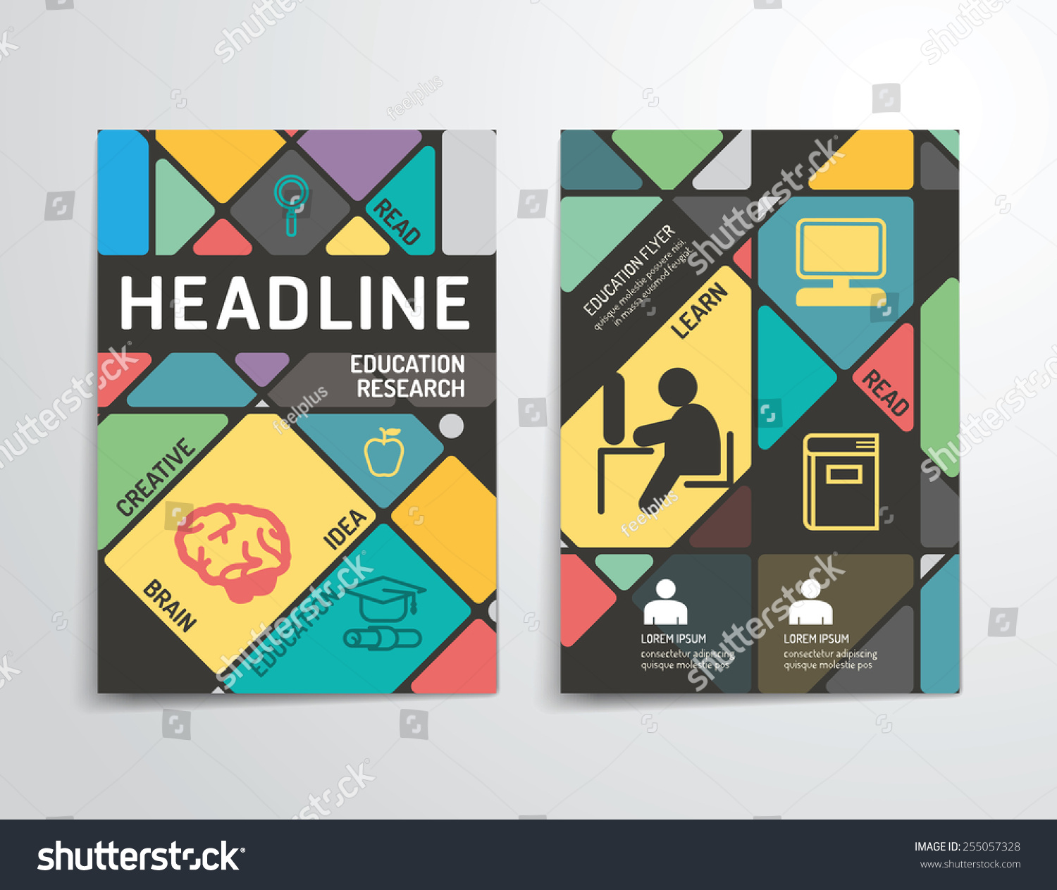 Vector Brochure Flyer Magazine Folder T Shirt Cover: Vector Brochure Flyer Magazine Cover Booklet Stock Vector