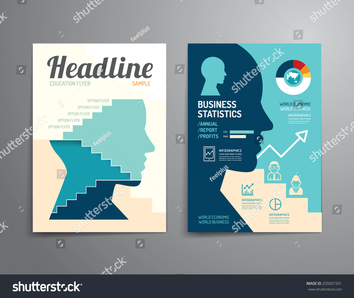 Vector Brochure Flyer Magazine Cover Booklet Stock Vector ...