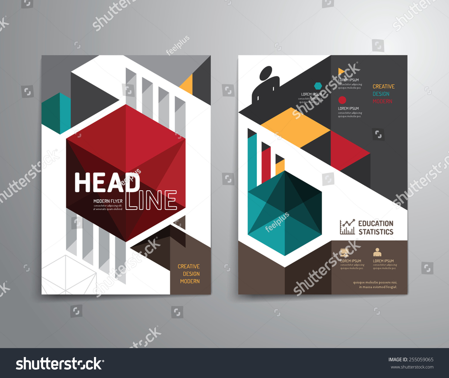 Poster design education - Vector Brochure Flyer Magazine Cover Booklet Poster Design Template Layout Education Annual Report