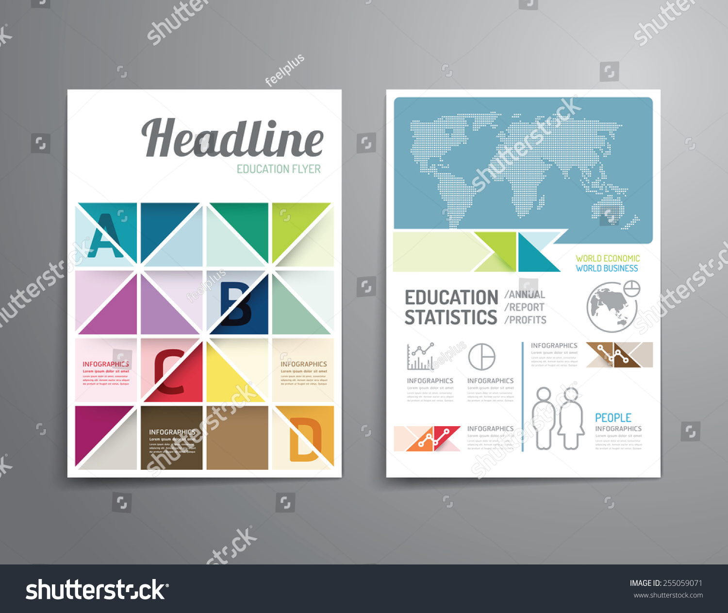 Poster design template free - Vector Brochure Flyer Magazine Cover Booklet Poster Design Template Layout Education Annual Report