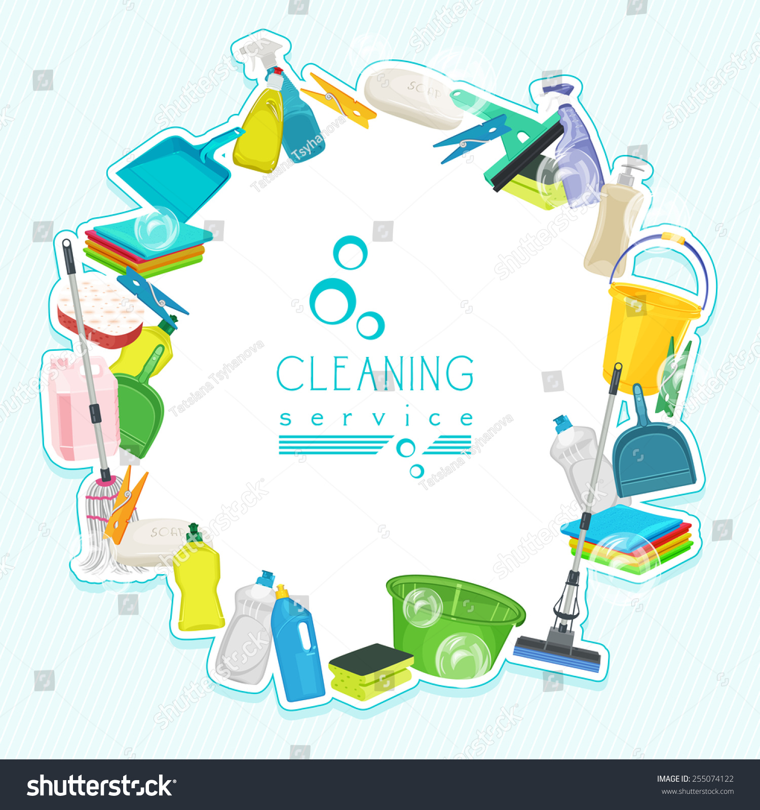 Royalty free poster design for cleaning service and for House cleaning stock photos
