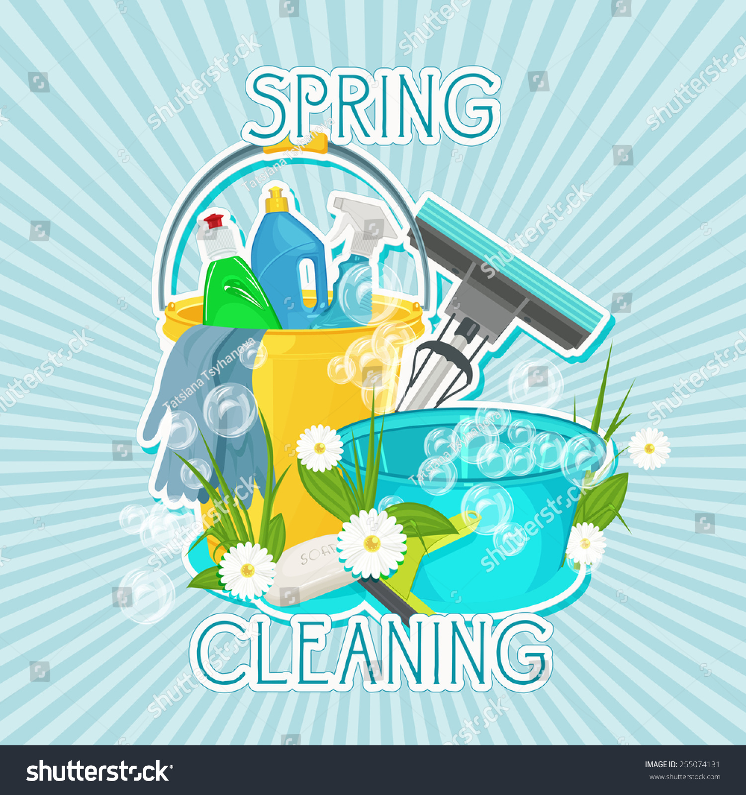 Poster design kit - Poster Design For Cleaning Service And Cleaning Supplies Spring Cleaning Kit Icons