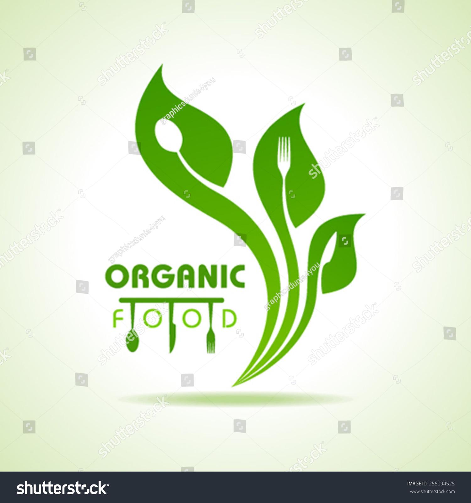 organic food kitchen utensils concept stock vector