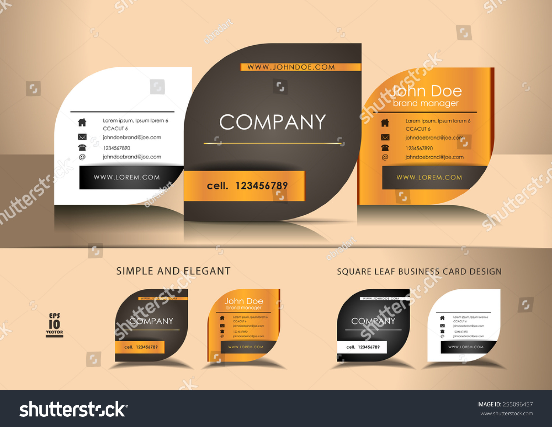 Leaf Business Cards Stock Vector 255096457 - Shutterstock