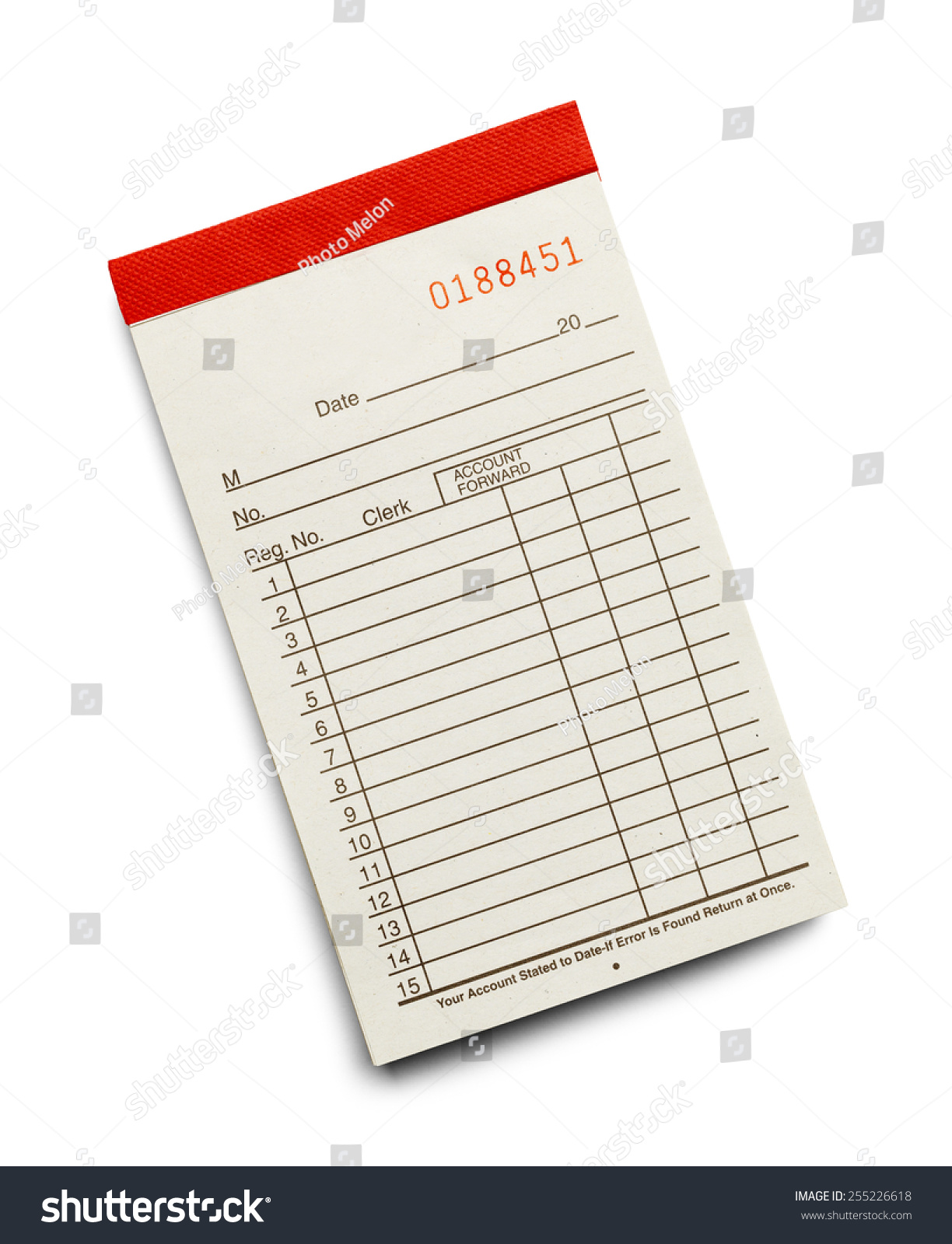 Receipt Pad With Copy Space From The Top View Isolated On. Resume Templates For Management Template. Sample Entry Level Sales Resumes Template. Questions To Ask Employer During Phone Interview Template. Office Name Plate Template