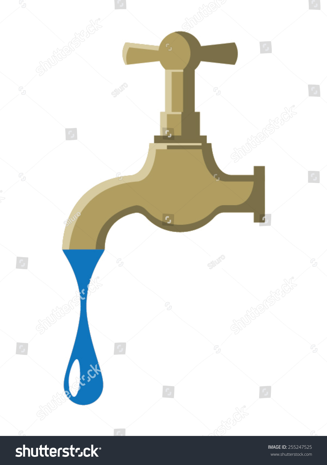 Vintage Tap Vector Illustration Representing Old Stock Vector ...