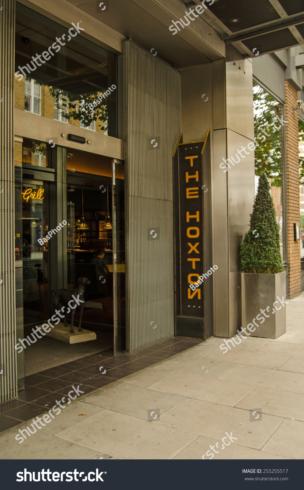 London united kingdom august 30 2014 entrance to the for Trendy boutique hotels