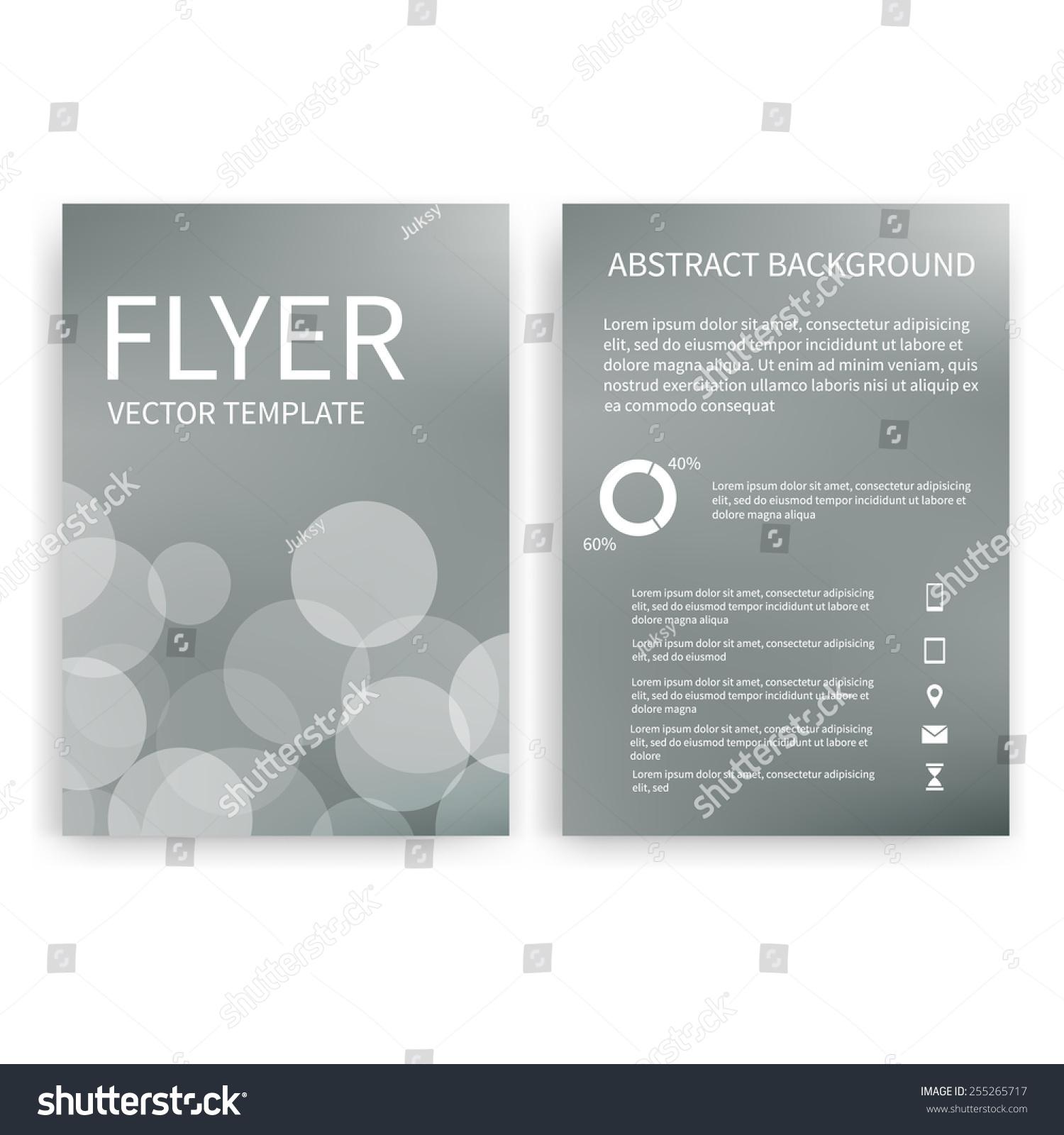 Flyer Design Templates Set Silver A 4 Stock Vector 255265717 ...