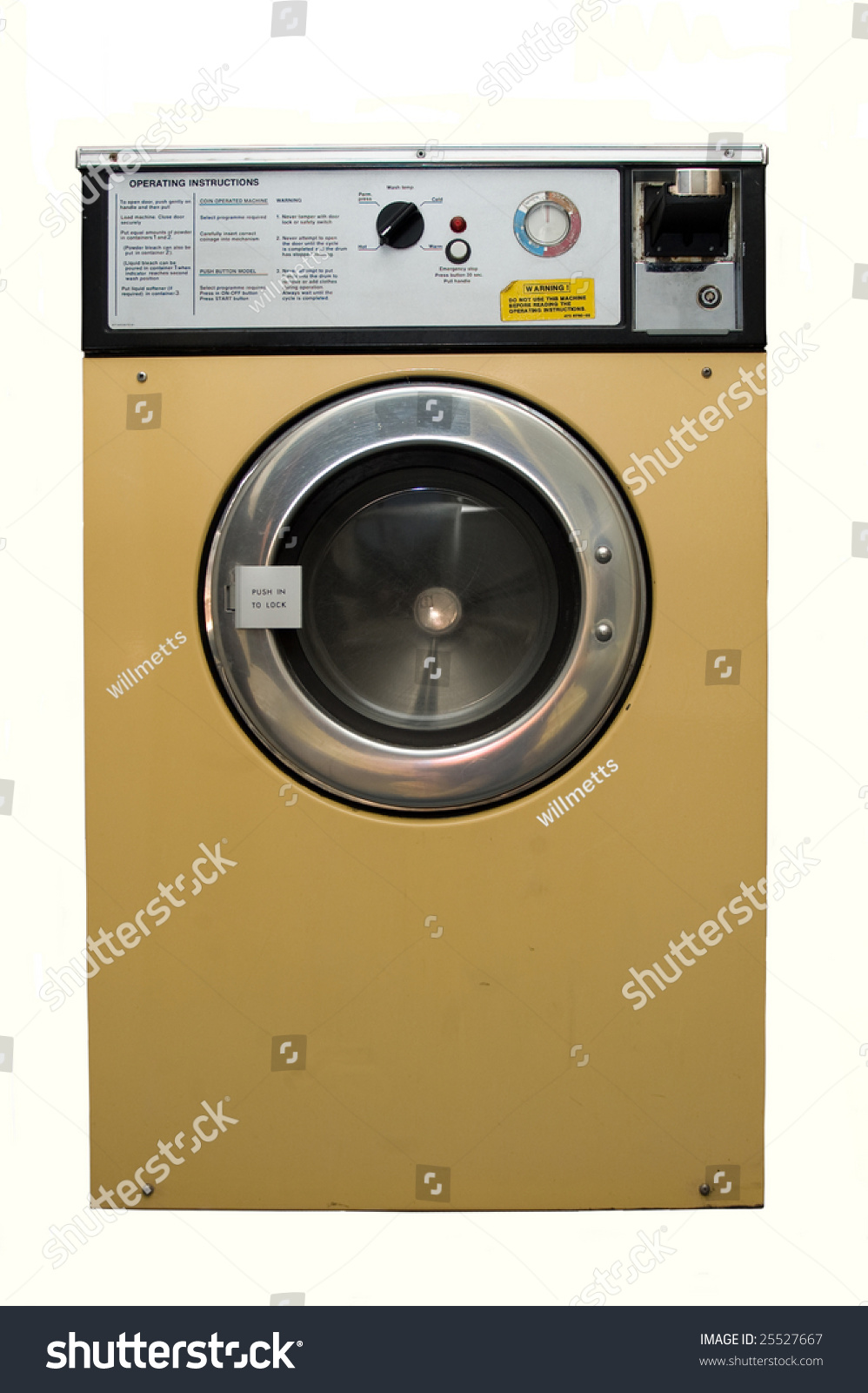 Dirty Well Used Coin Operated Launderette Stock Photo (Edit Now