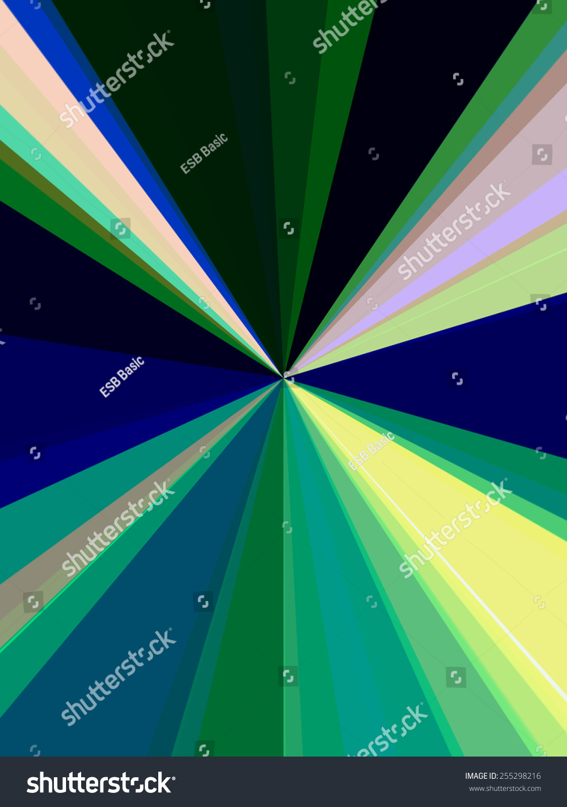 Abstract Geometry Origin Rays Various Colors Stock