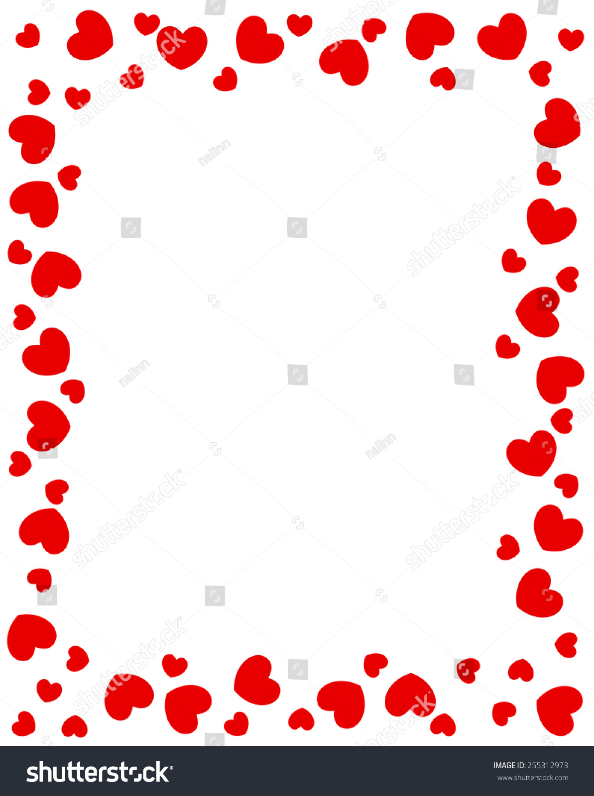 Red Hearts Border Valentines Day Designs Stock Vector Royalty Free