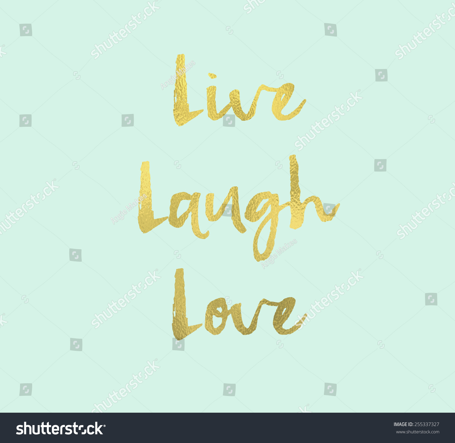 live laugh love wall art hand stock illustration 255337327 shutterstock. Black Bedroom Furniture Sets. Home Design Ideas