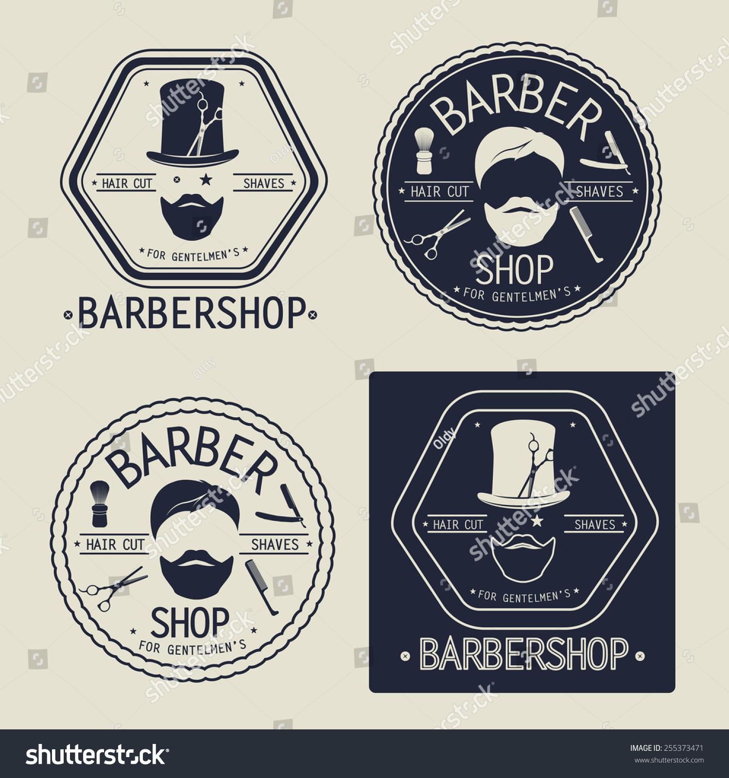 Free Vintage Barber Shop Logo Templates PSD  Freebies