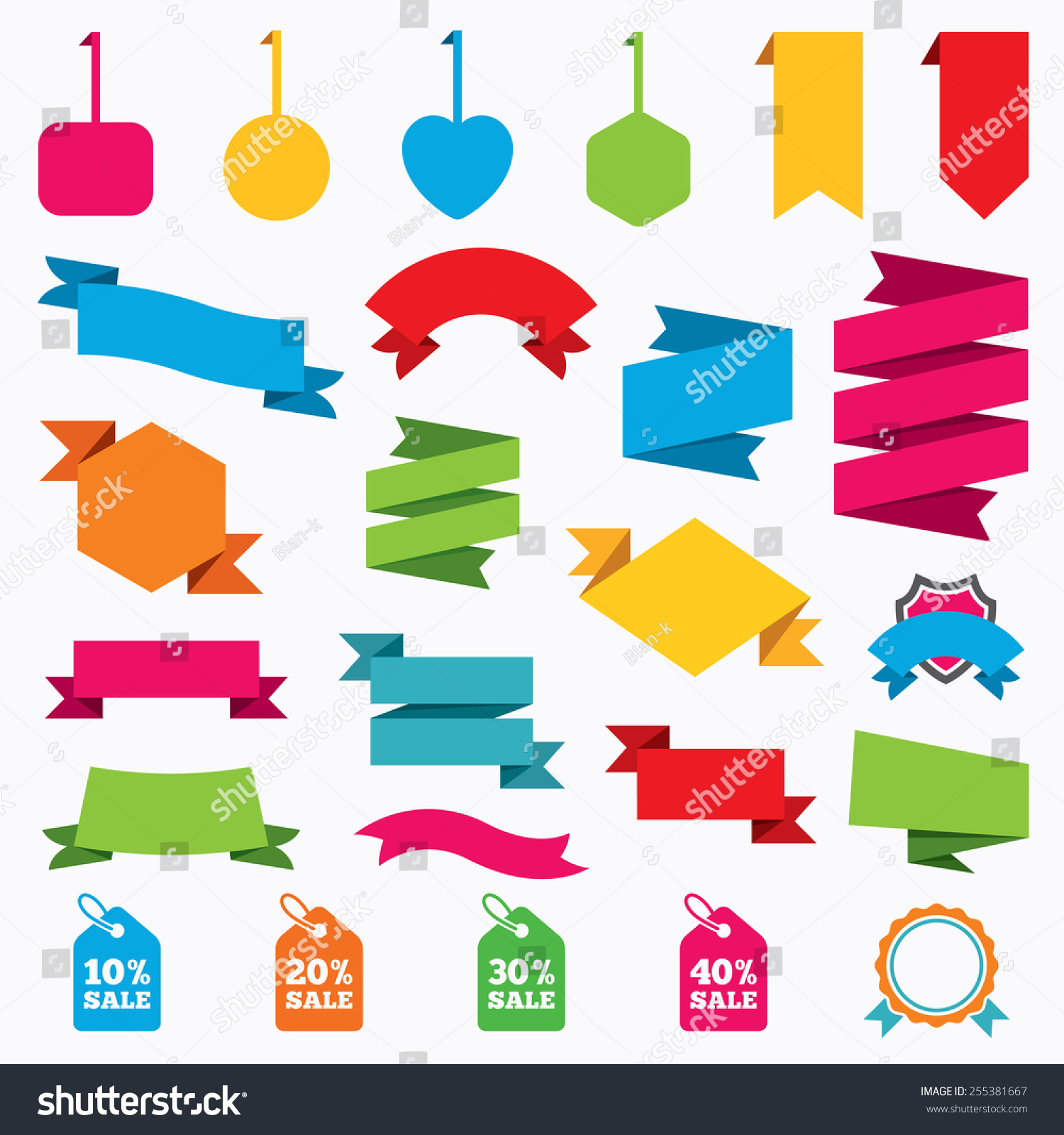 Web Stickers Tags Banners Sale Price Stock Vector 255381667 ...