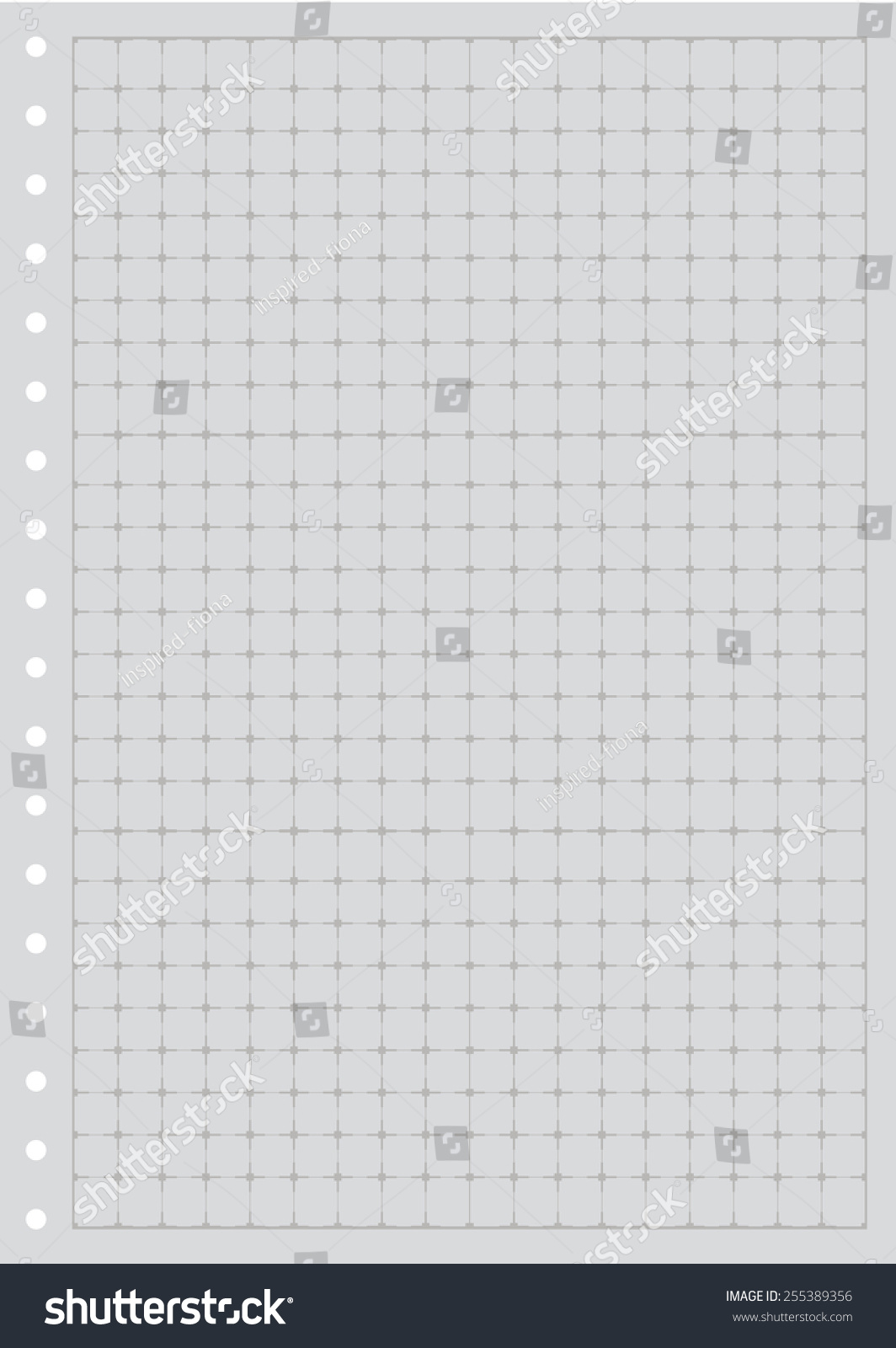 Sheet Paper Grid Notebook Graph Style Stock Vector HD (Royalty Free ...