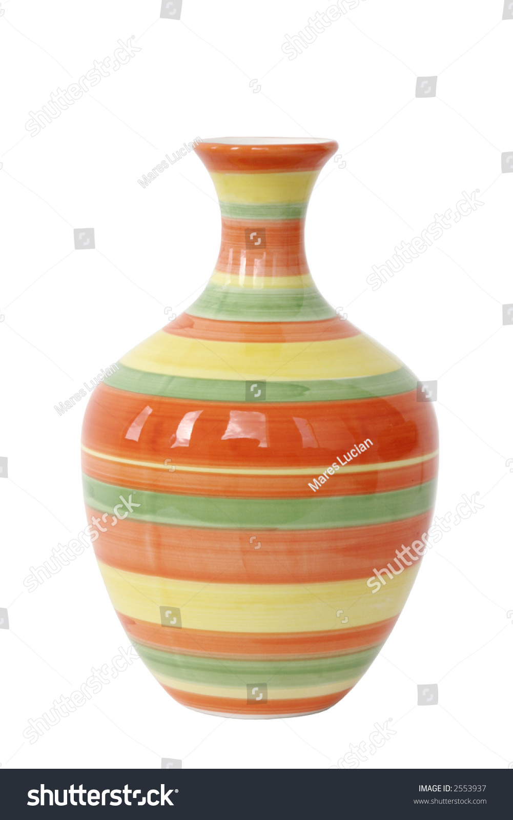 Empty Flower Vase With Circles Stock Photo 2553937