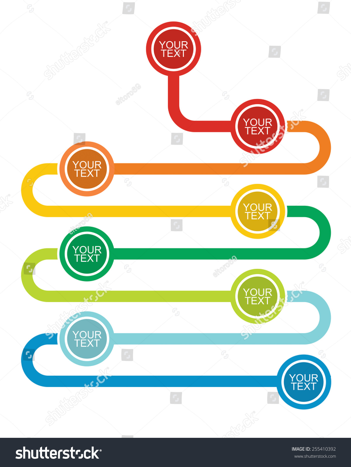 Graph Flow Diagram Illustration Copy Paste Stock Vector