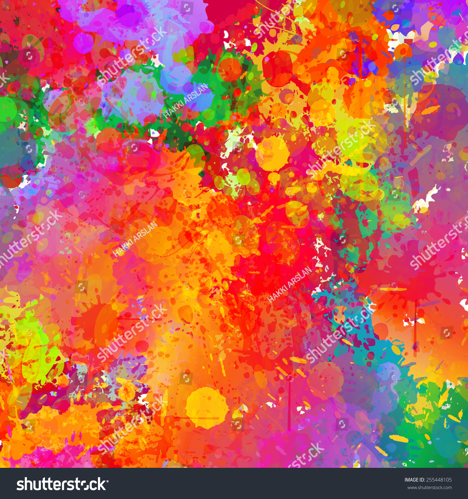 Abstract Colorful Splash Background Watercolor Background