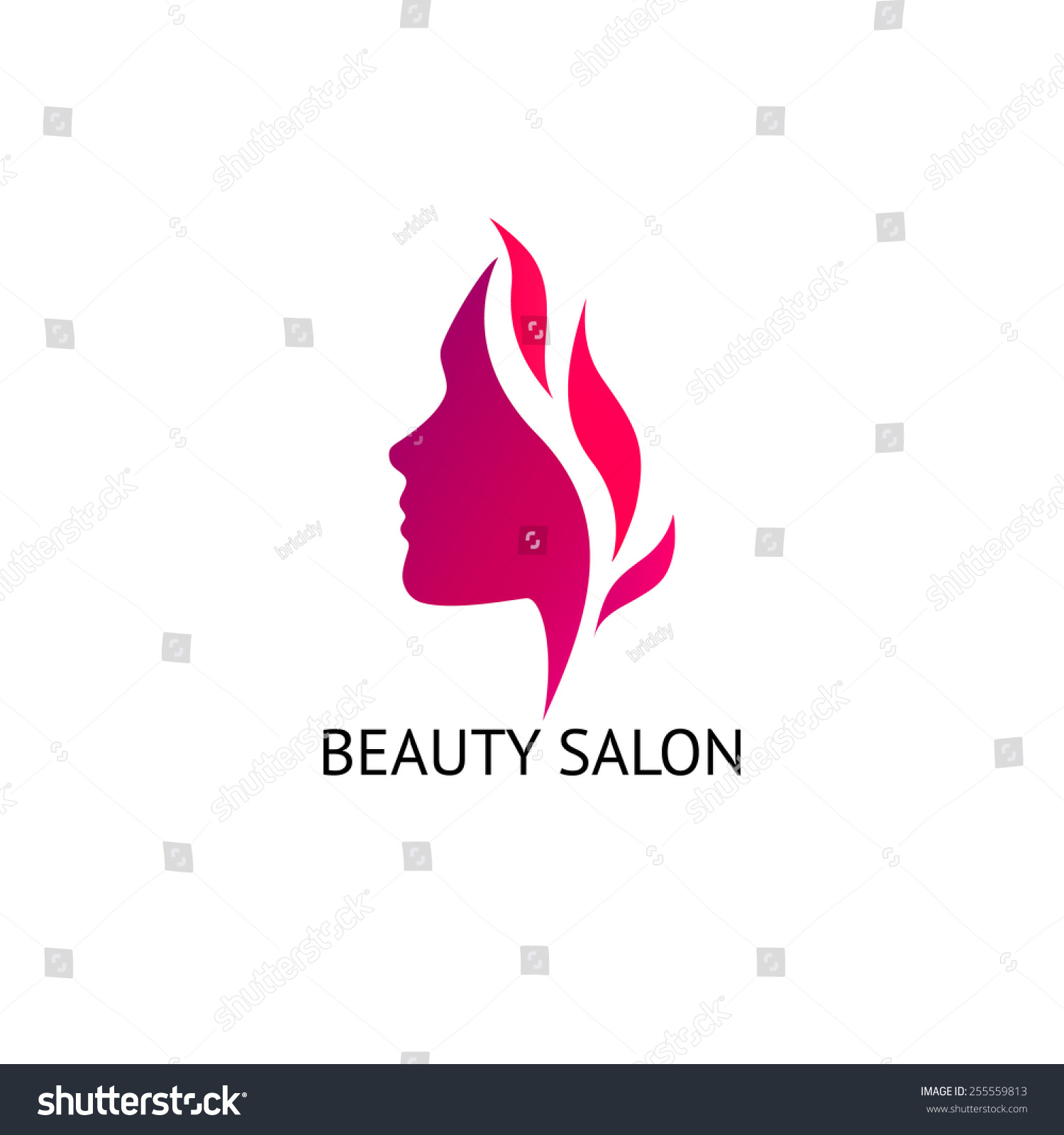 Womans face silhouette abstract business concept stock for Abstract beauty salon