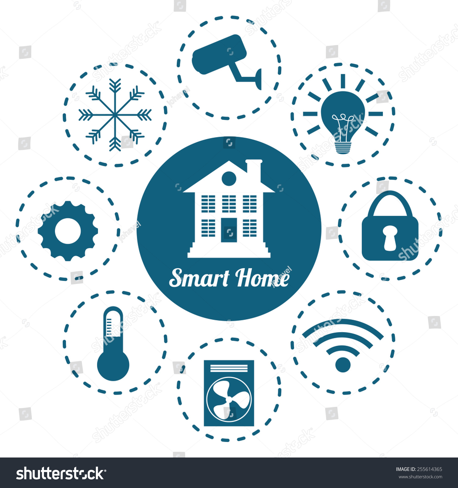 Smart Home Design Vector Illustration Eps10 Stock Vector 255614365 ...