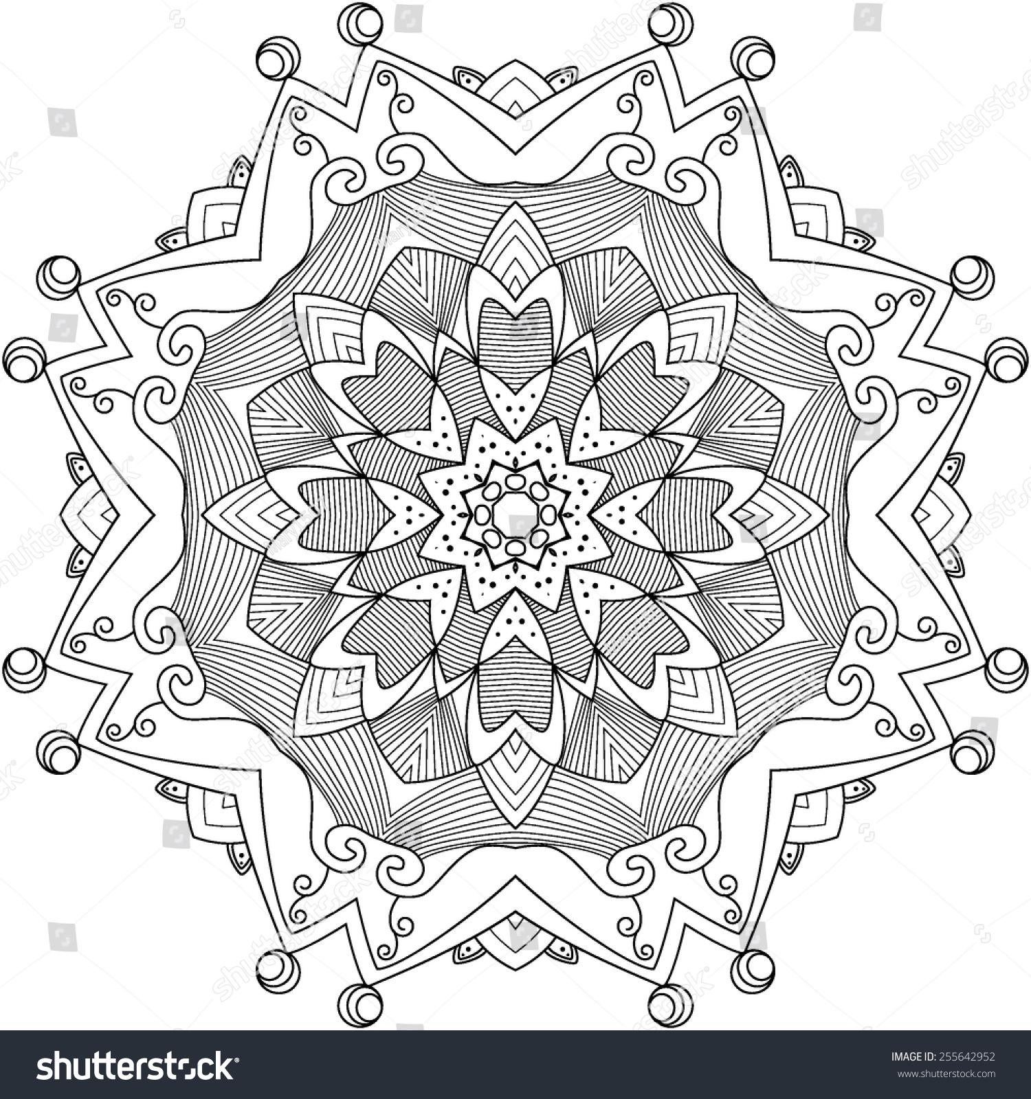 Vector Rosettes Pattern Decorative Elements Stock Vector