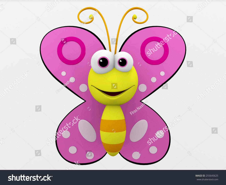 3d cartoon butterfly stock illustration 255645625 shutterstock