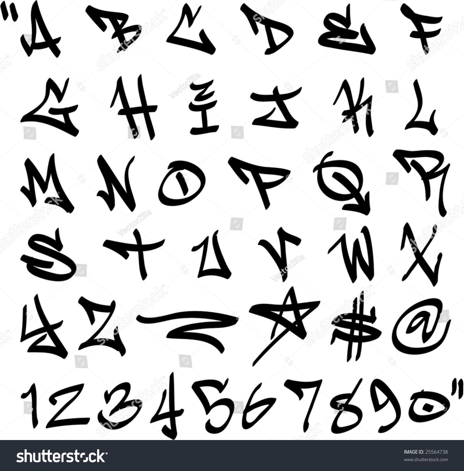 Vector Graffiti Marker Alphabet And… Stock Photo 25564738