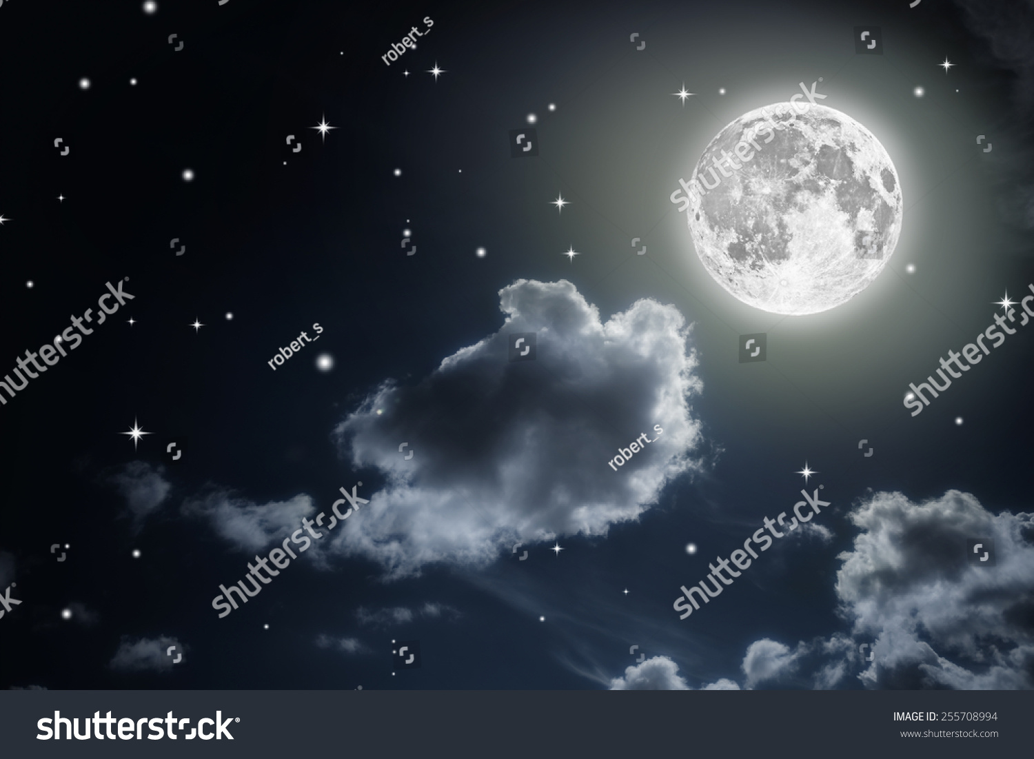 Full Moon In The Sky With Stars | www.pixshark.com ...