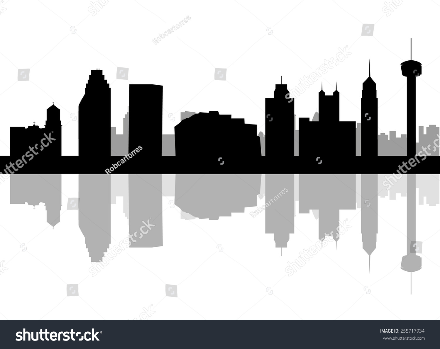 City Of Tulsa Skyline Outline Wiring Diagrams Isolated Ac Voltage Spans 0vac To 280vac Powersupplycircuit San Antonio Texas Detailed Vector Stock Downtown Drawing