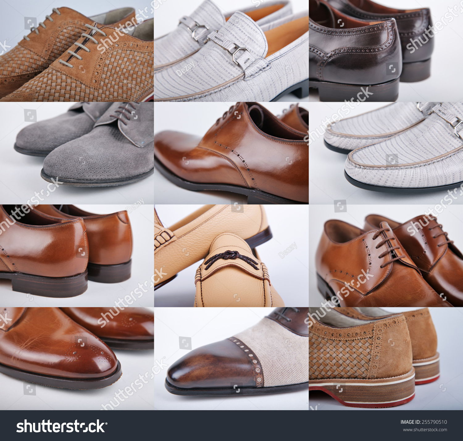 Different style dress shoes