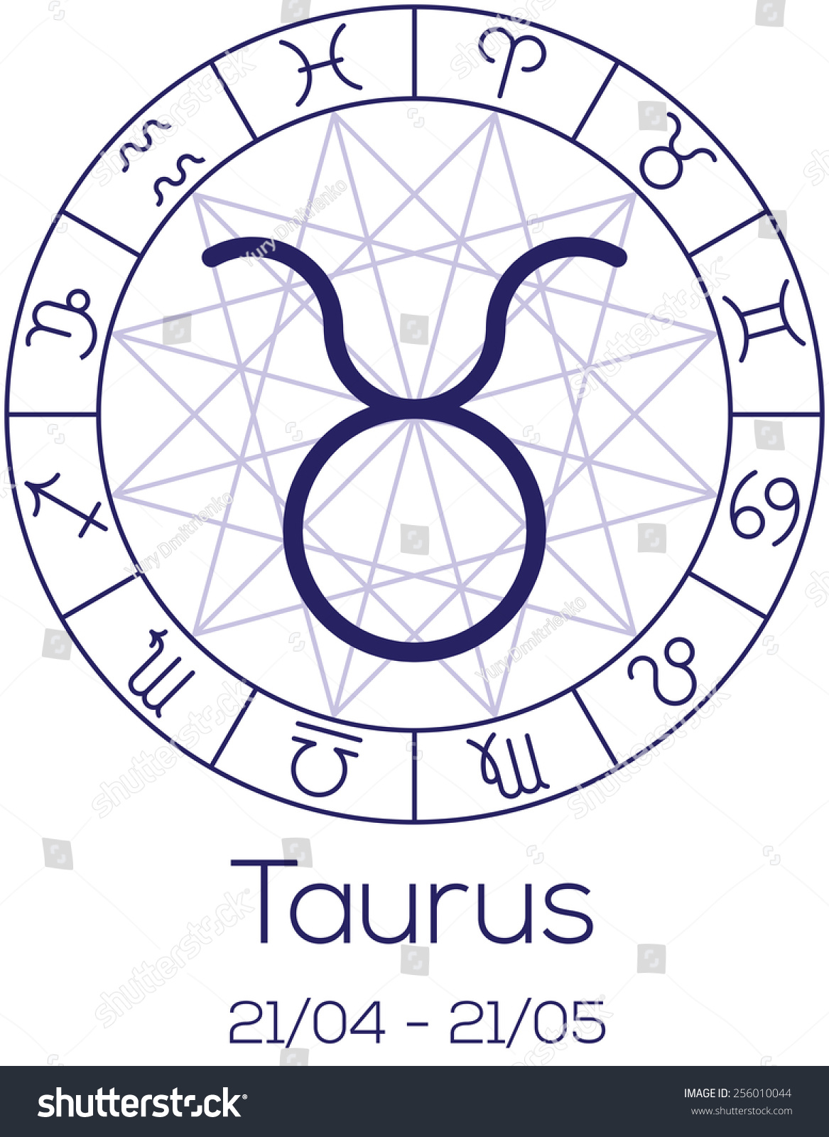 Zodiac sign taurus astrological chart symbols stock vector zodiac sign taurus astrological chart with symbols in wheel with polygonal background deep buycottarizona