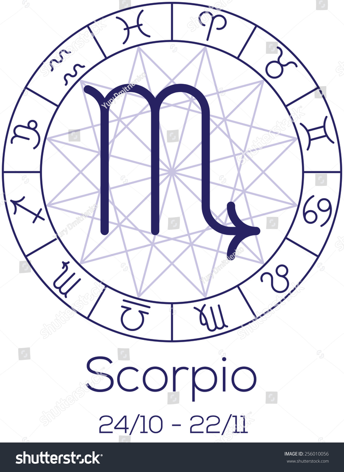 Zodiac sign scorpio astrological chart symbols stock vector zodiac sign scorpio astrological chart with symbols in wheel with polygonal background deep buycottarizona