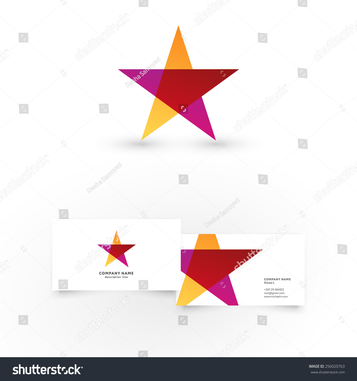 Modern icon design star shape element stock vector 256020763 modern icon design star shape element with business card template best for identity and logotypes magicingreecefo Choice Image