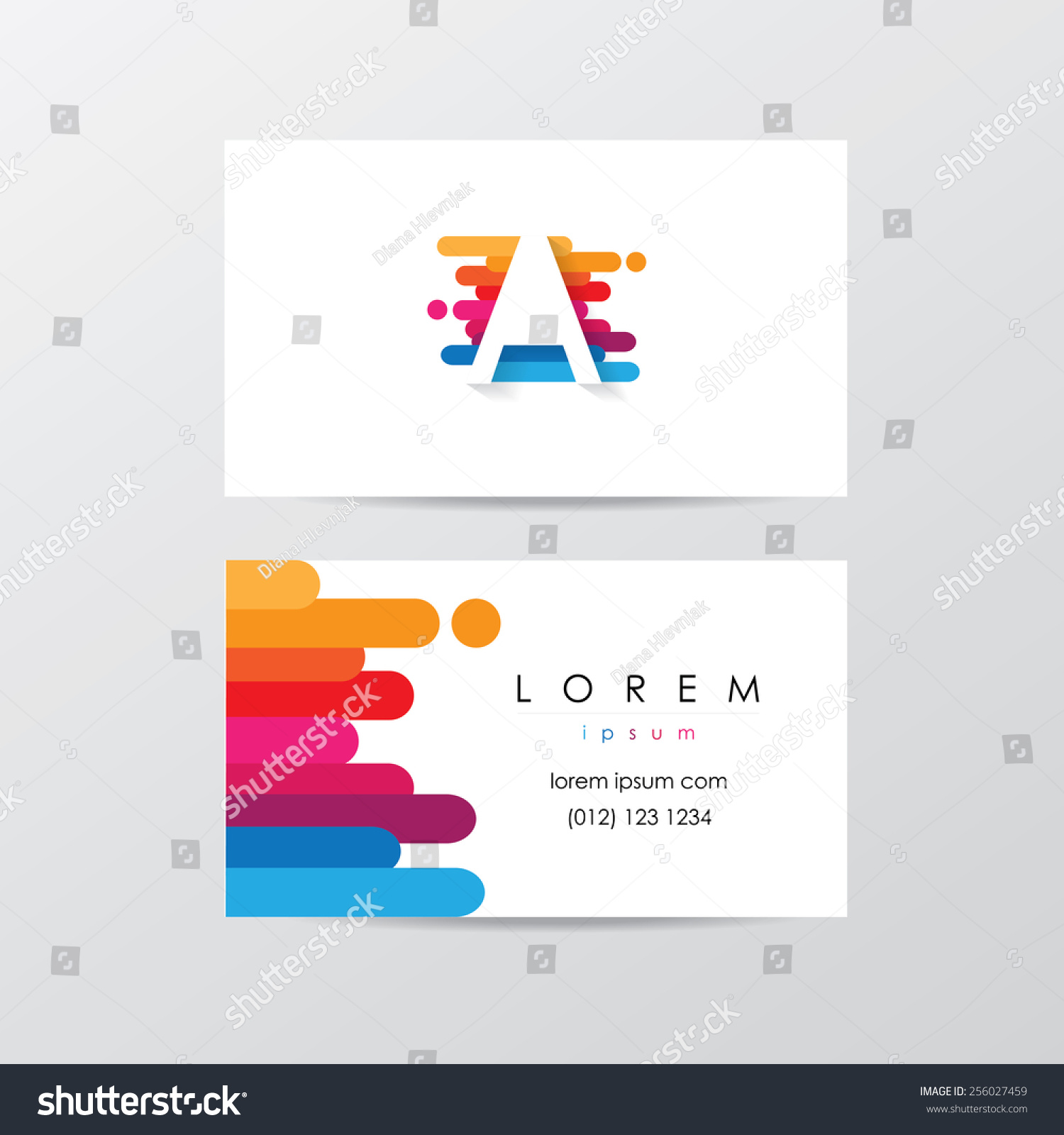 Creative Business Card Template Design Colorful Stock Vector ...